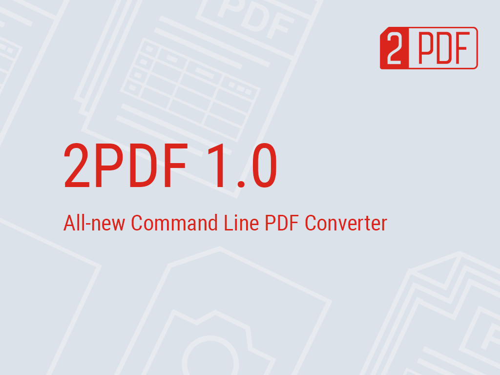 2PDF 1 0: New Tool to Create PDF from Command Line Interface