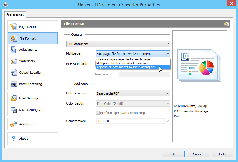 Use Universal Document Converter as a PDF merger