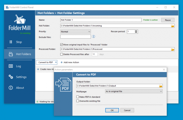 Automate PST to PDF conversion using FolderMill