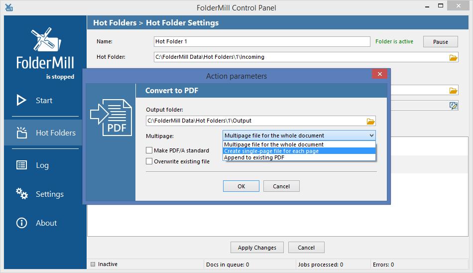 PDF splitter feature in new FolderMill 4.2