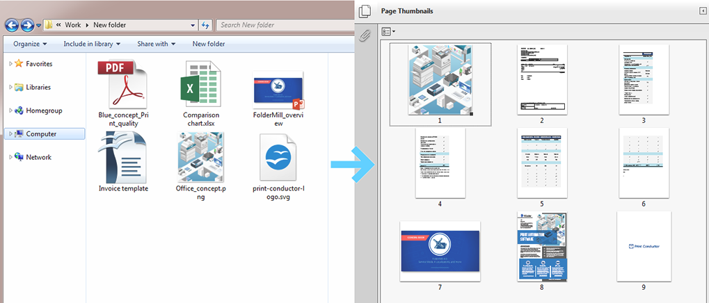 How to merge images and documents into one PDF