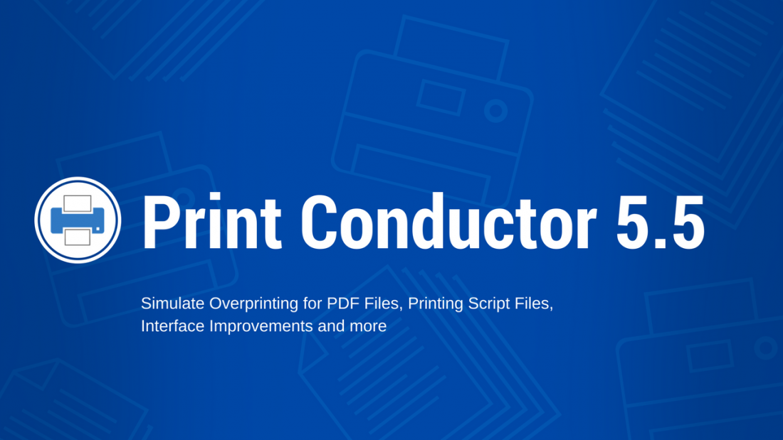 Simulate Overprinting in Print Conductor 5.5
