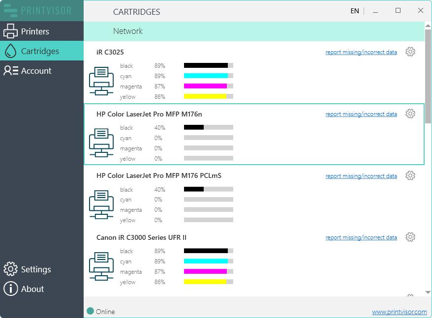PrintVisor monitoring