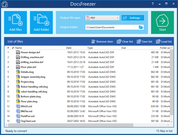 DocuFreezer – Simple Converter to PDF or Images