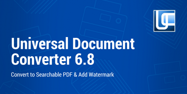 Create a searchable PDF with watermark with new Universal Document Converter 6.8